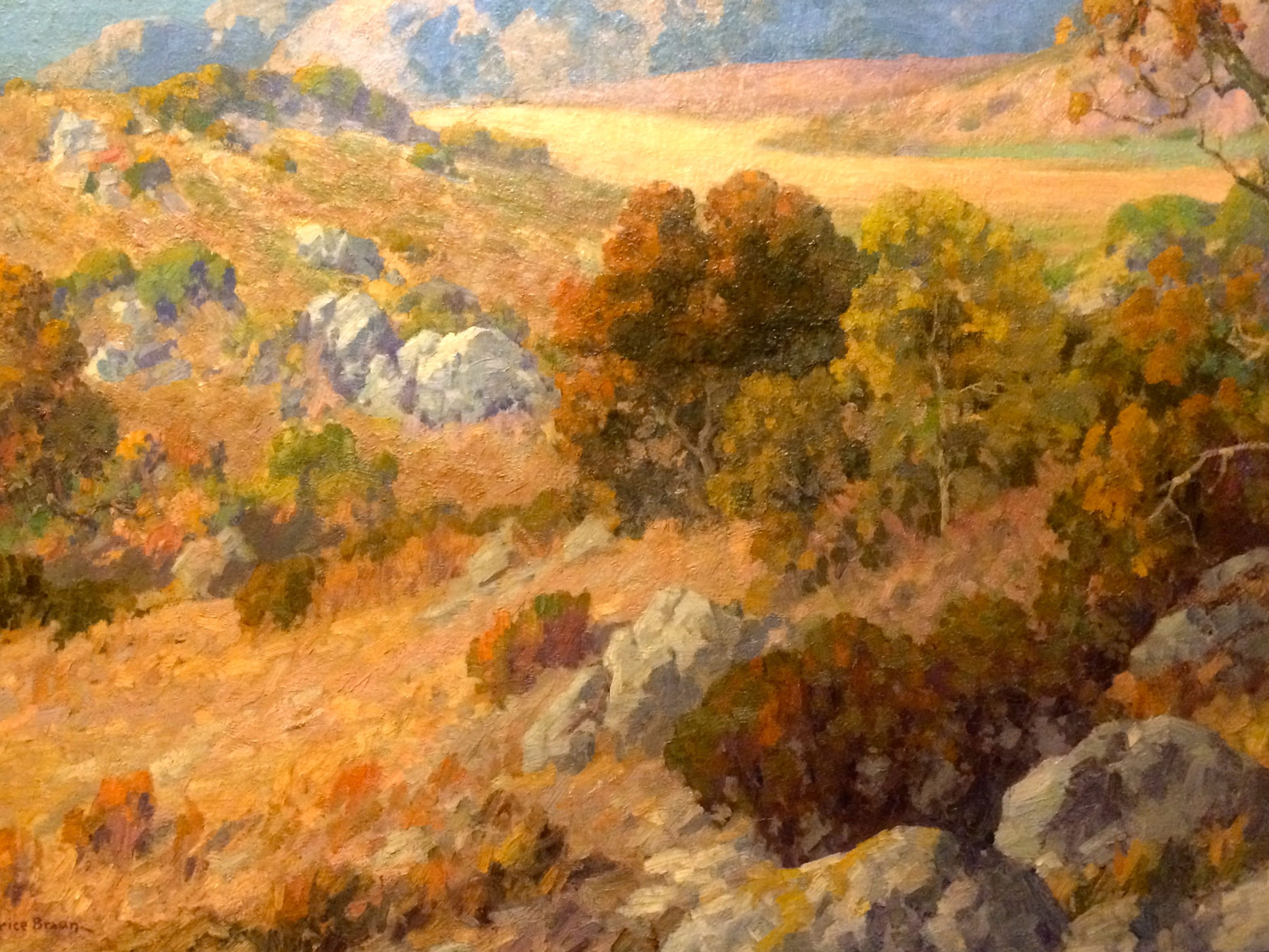 California Impressionism Art At Autry From Unusual Gardena High .