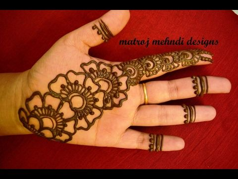 Mehndi Designs Learning Hands : Easy simple mehndi henna designs tutorials design for hands