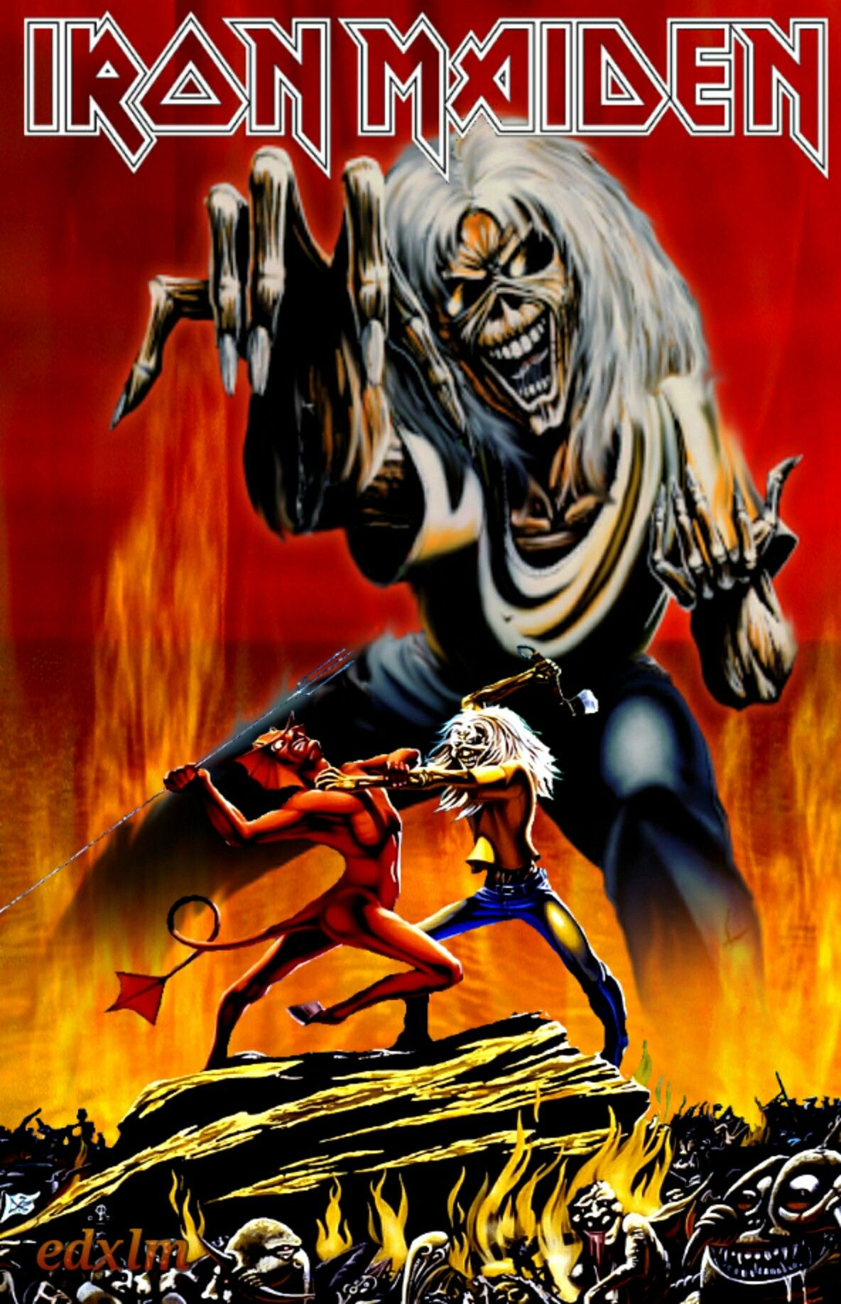The number of the beast Iron maiden powerslave, Iron
