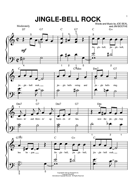 Jingle-Bell Rock Sheet Music by Aaron Tippin | See best ideas ...