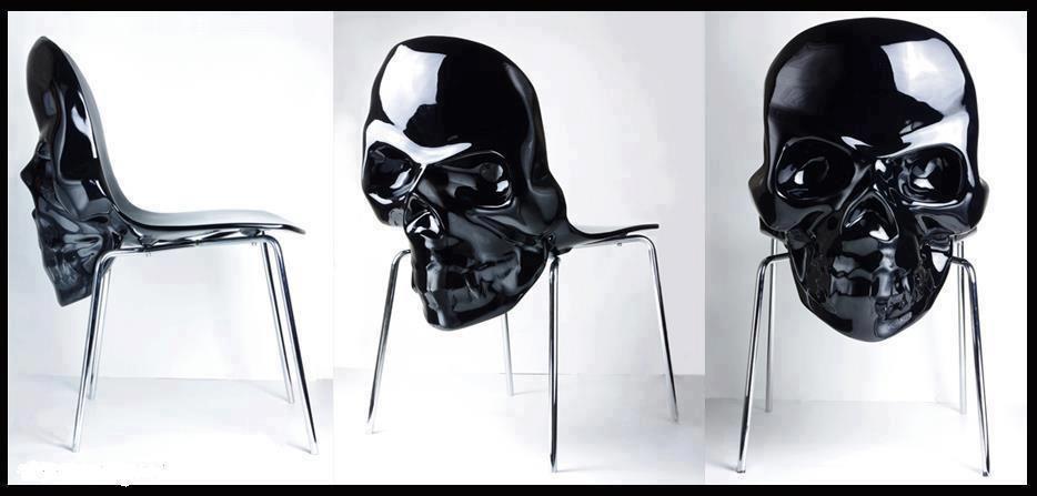 black skull chair hanging chairs for bedroom gothandalternativefashion pinterest