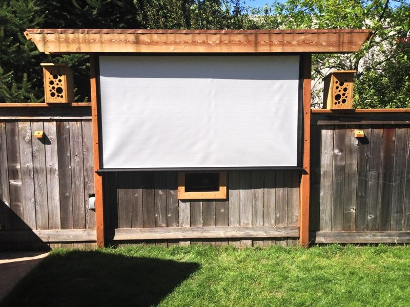 Backyard Theater Ideas fun idea - pergola bird feeding movie theater! awesome outdoor movie
