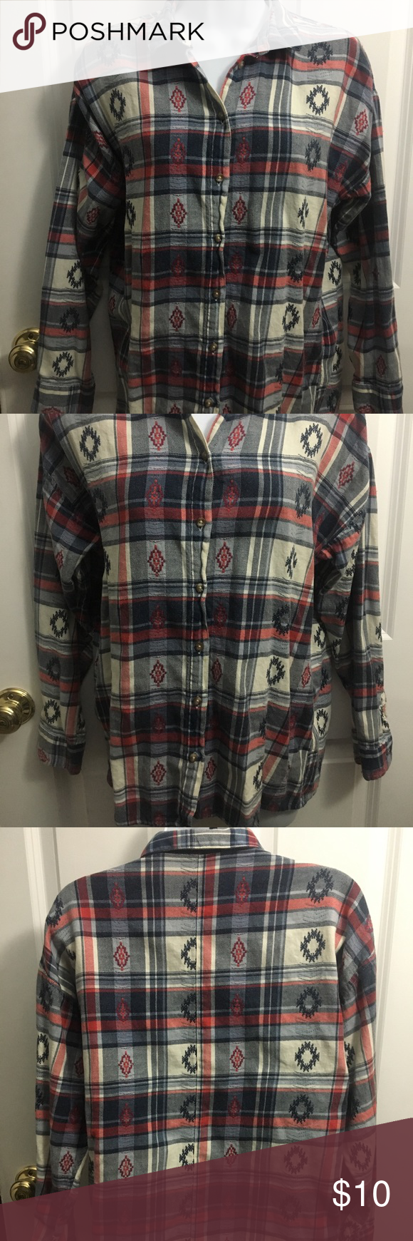 Flannel shirt knot  TOPSHOP flannel US size   Flannels Topshop and Ea