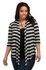 Black And Grey Open Cardigan SKU: 510714