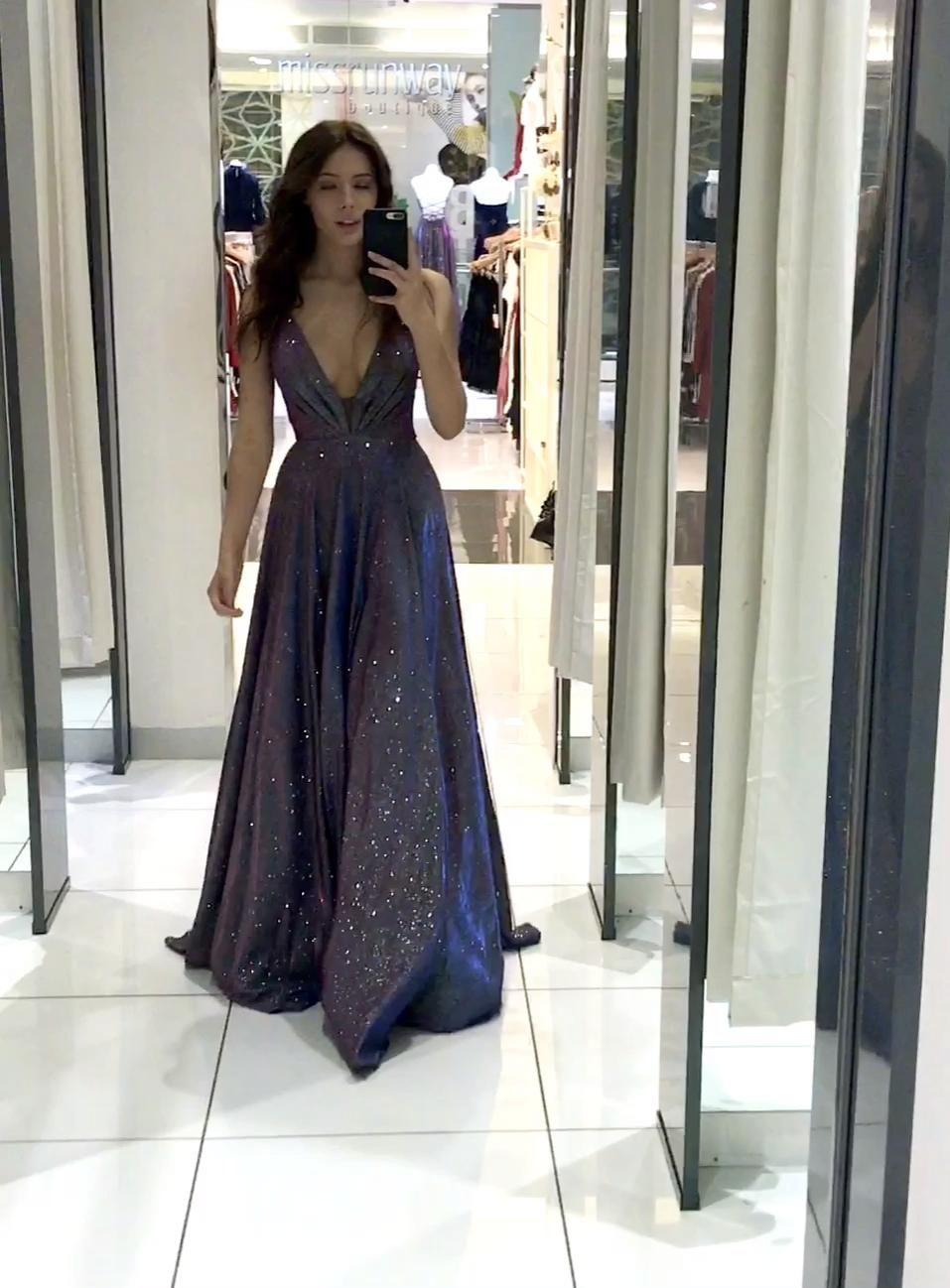 Vivien Glitter Formal Gown