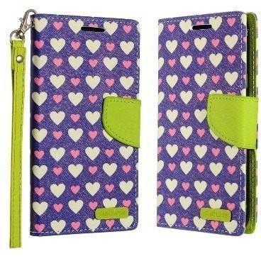Eclipse Premium Designer Wallet LG V20 Case - Hearts