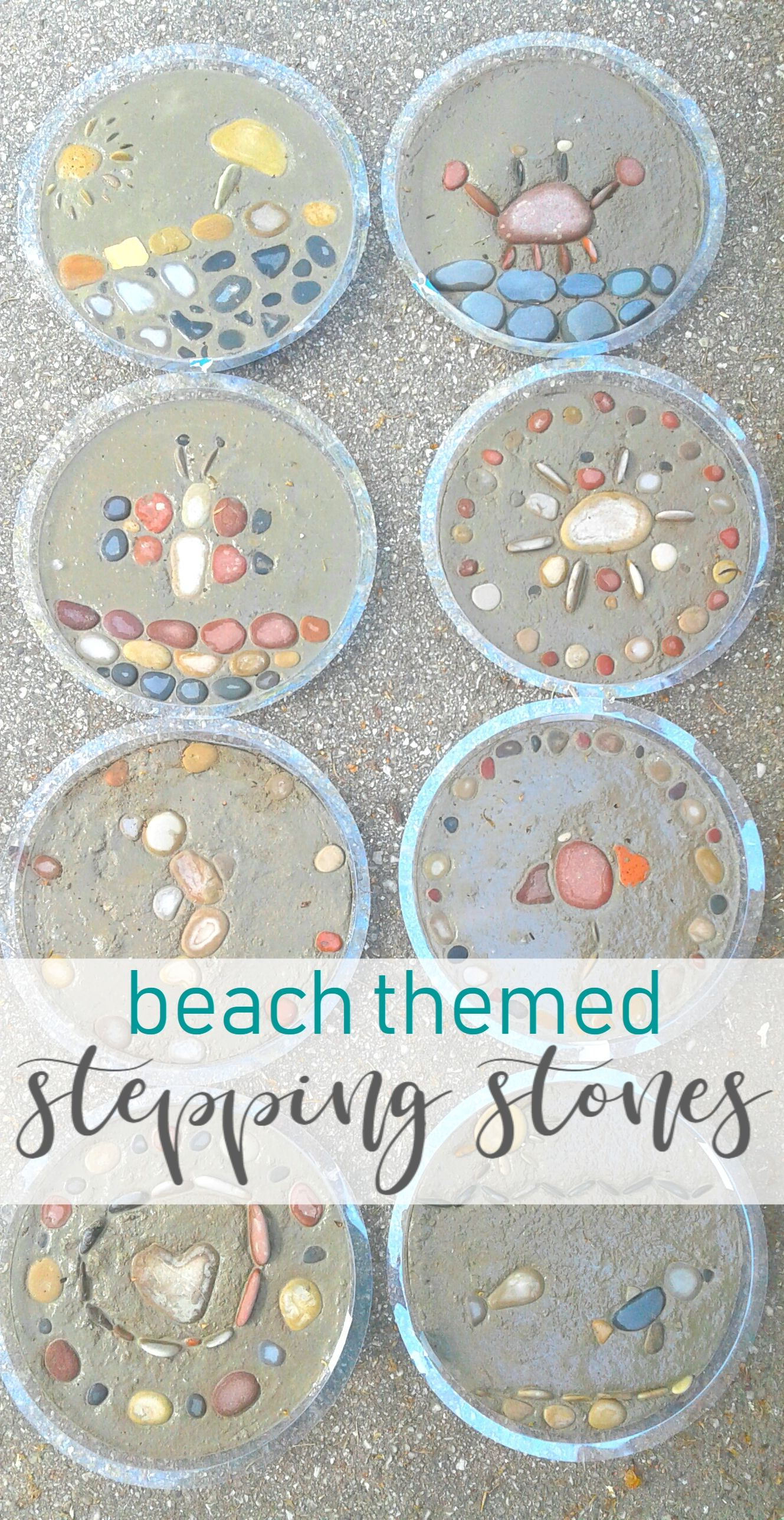 Beach Stepping Stones What A Great Idea To