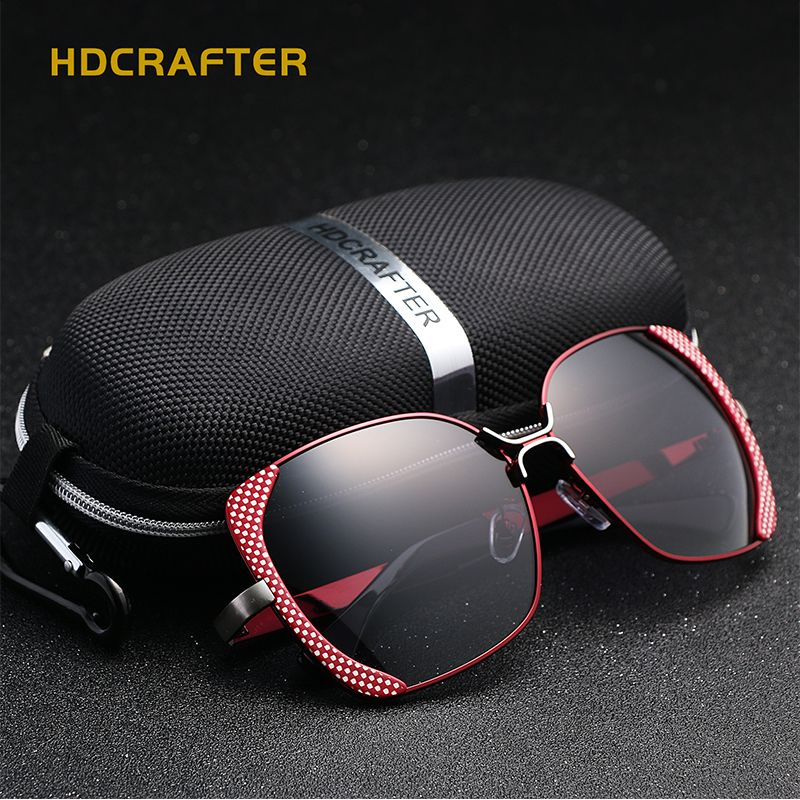 31d1eccb36a 2017 New HDCRAFTER polarized sunglasses women brand designer Shades Female  butterfly sun glasses Oculos De Sol Feminino UV400