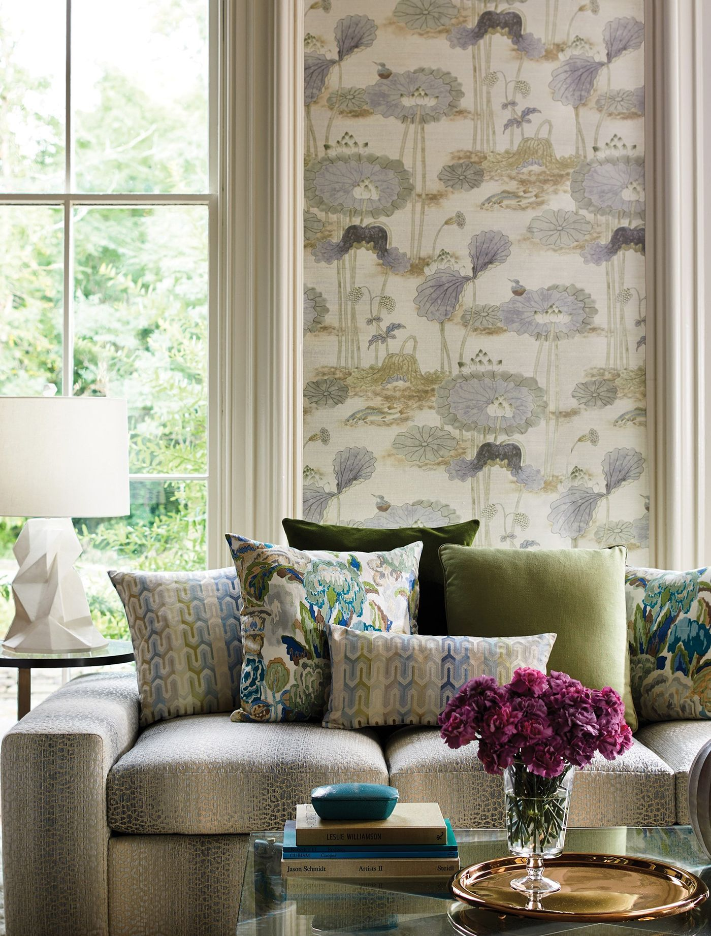 High end floral wallpaper cowtan tout