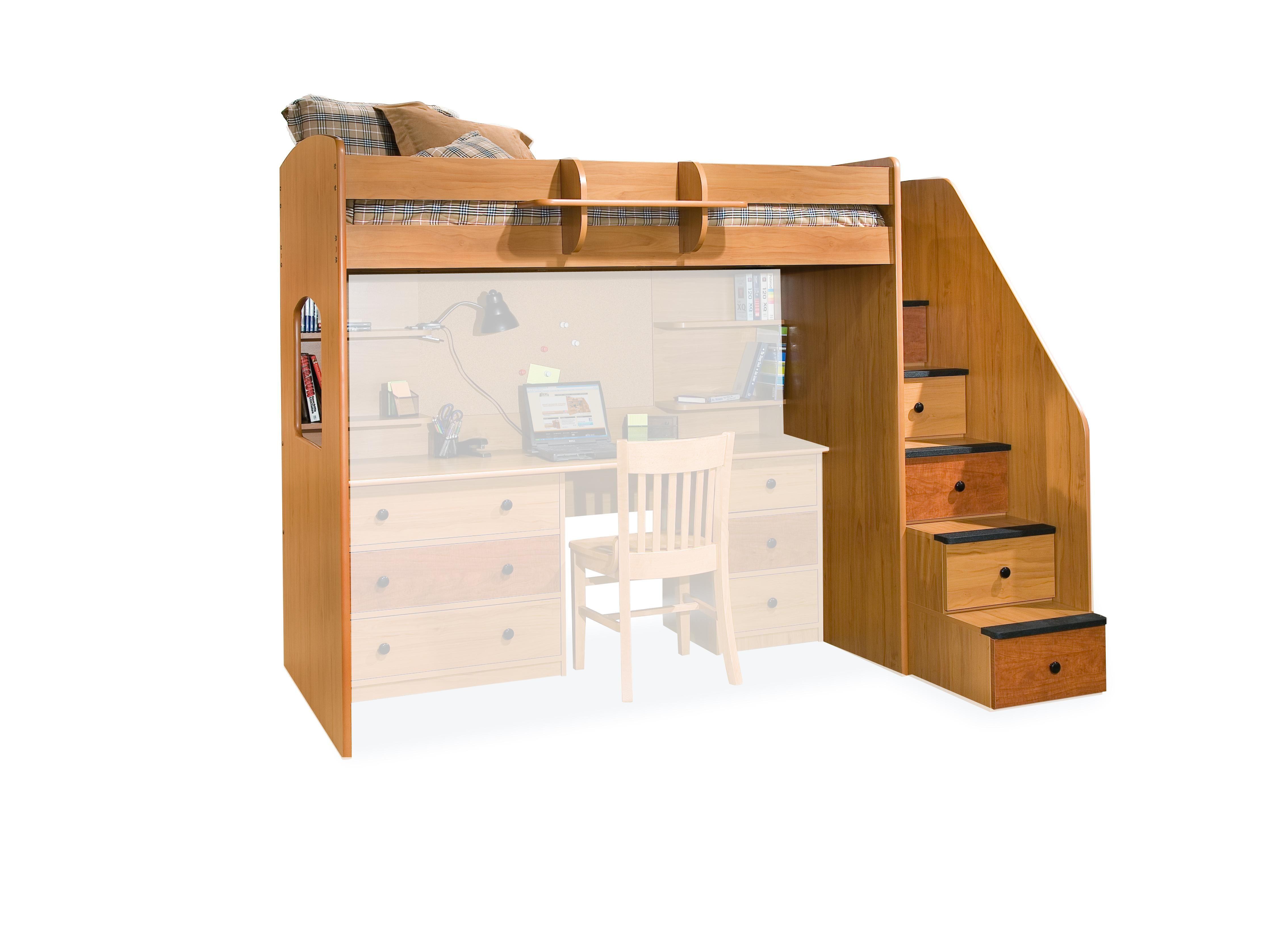 Dorm Mattress Part 4 Loft Bed With Stairs kid stuff
