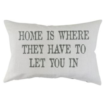Park B. Smith ''Home Is'' Throw Pillow