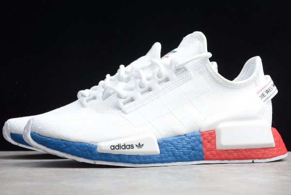 2020 Adidas Nmd R1 V2 White Blue Red Fx4148 For Sale In 2020 Adidas Nmd R1 Adidas Adidas Nmd