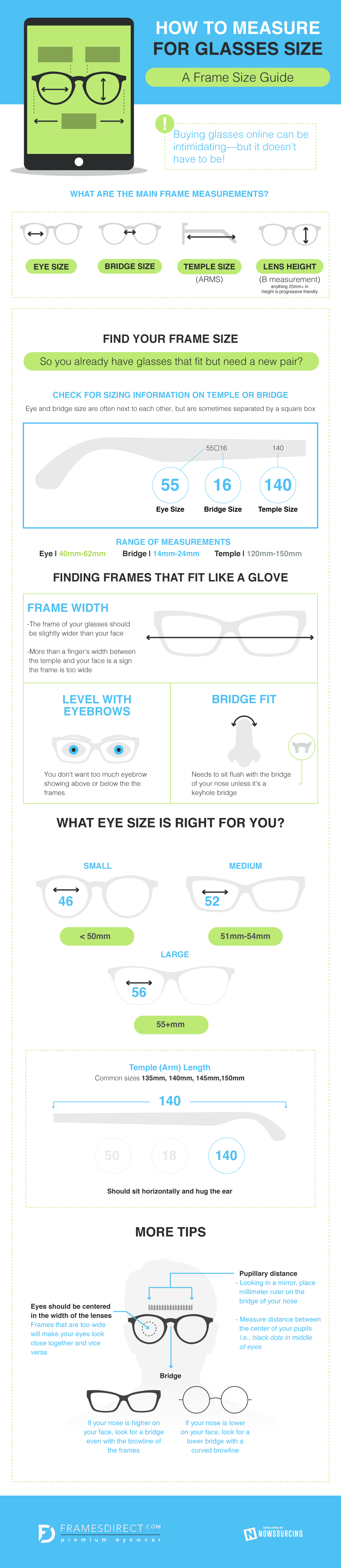 How to Measure Your Face for Glasses #Infographic | Posters ...