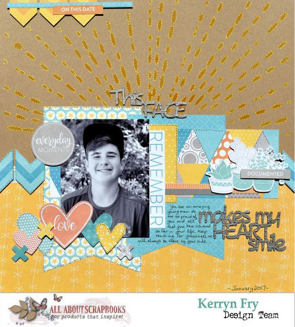 All About Scrapbooks Australia This Face By Kerryn 2017 All
