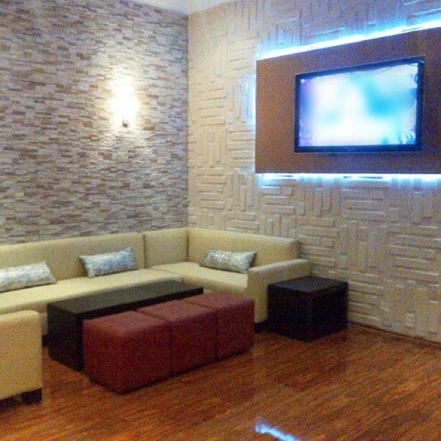 20 Amazing Interior Design Ideas With Brick Walls: 3D Wall Panels-Bricks Design