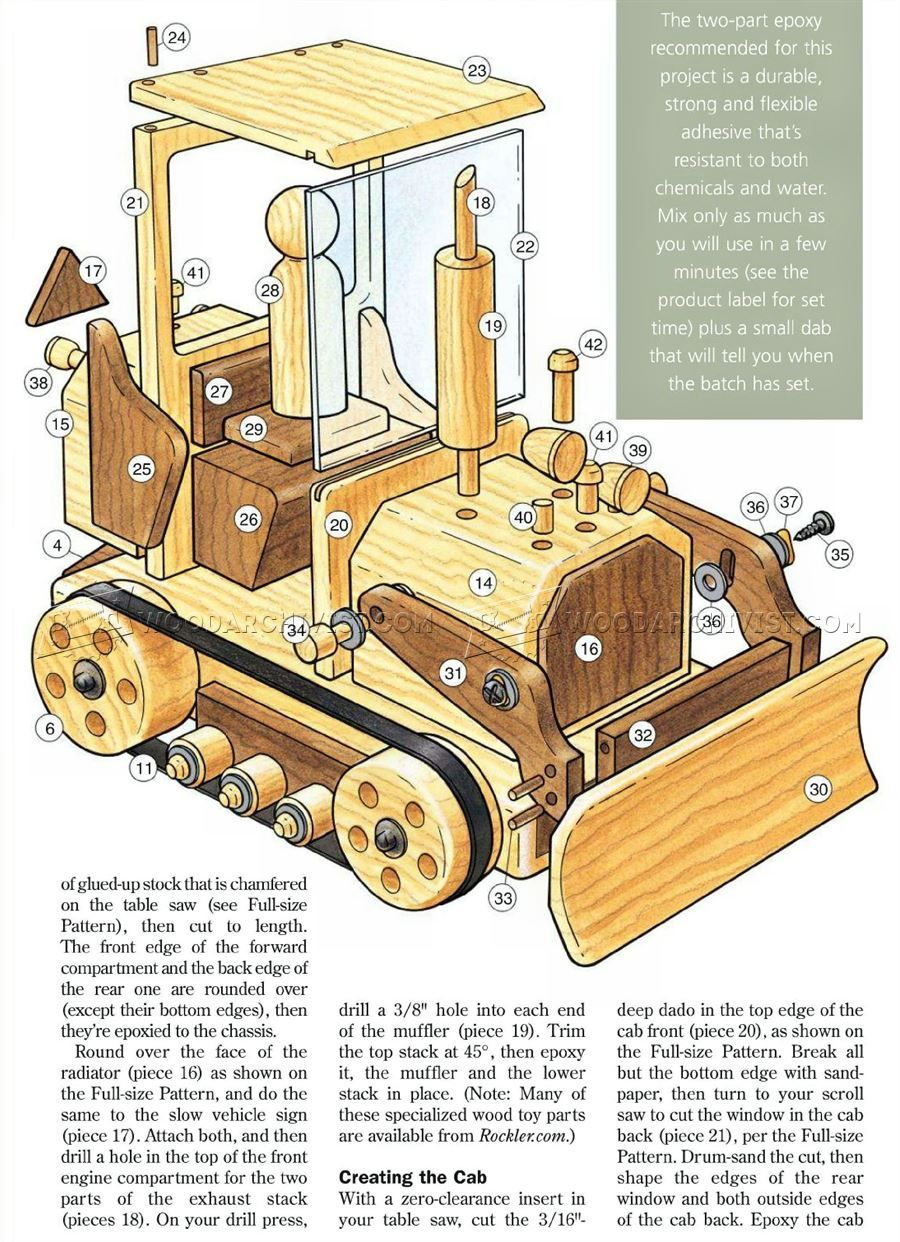 wooden toy bulldozer plans - wooden toy plans | gift & toys