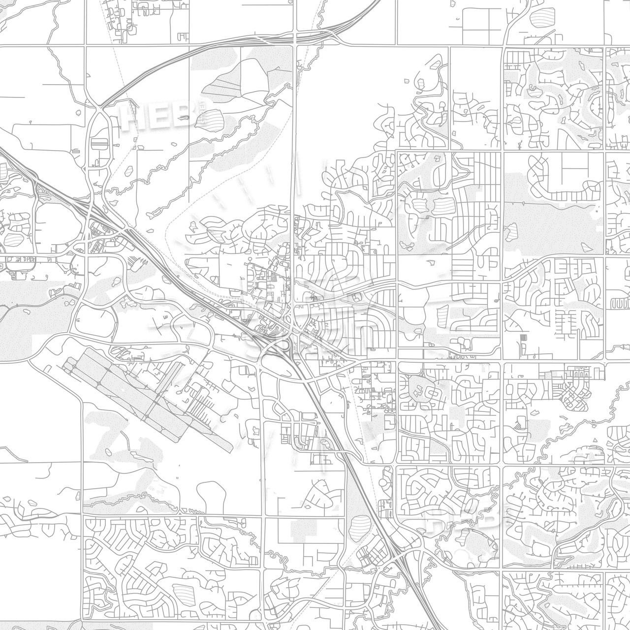 Broomfield, Colorado, USA, bright outlined vector map | Maps ...