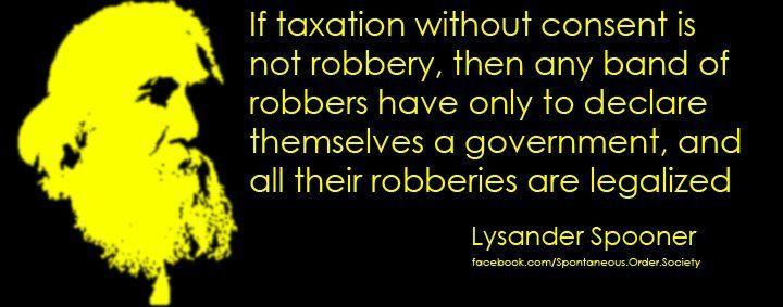 Image result for lysander spooner taxation