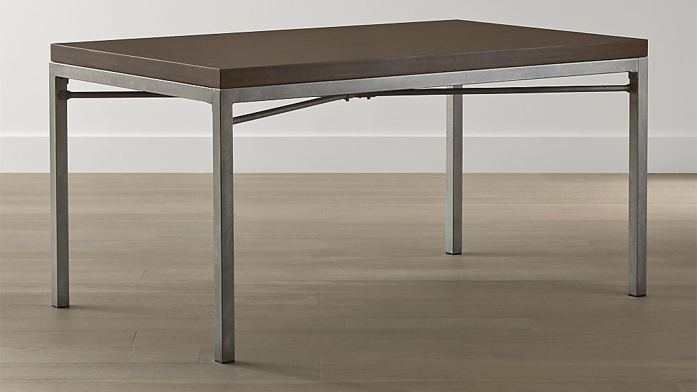 Myrtle Top/ Zinc X-Base Dining Tables | Crate and Barrel  Dining Room