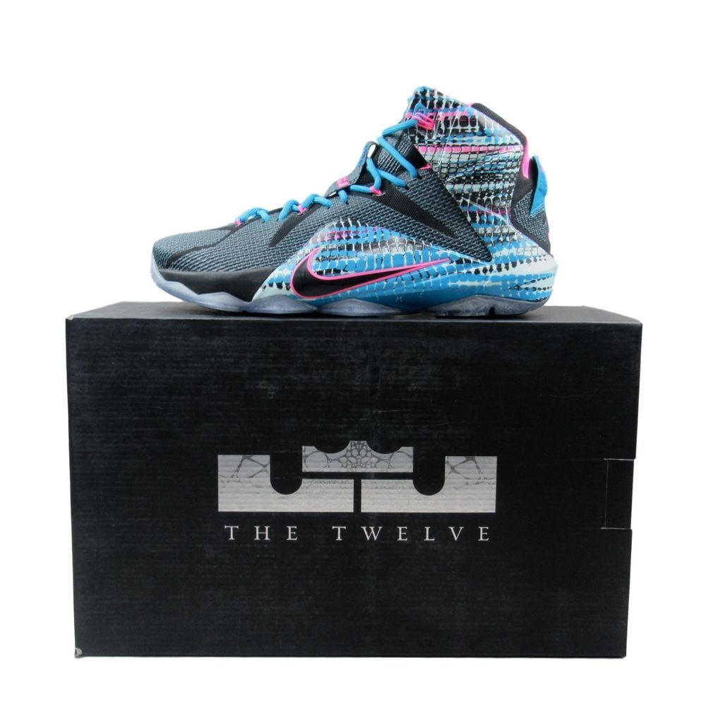 new concept 57537 d9982 Nike Lebron XII 12 Chromosomes Size 11 Mens Black Pink Blue Lagoon 684593  006  Nike  BasketballShoes