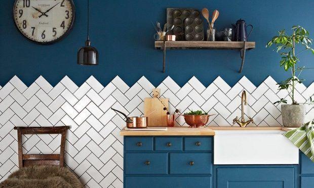 Tendencias El Azulejo En Espiga Azulejo De Pared Suelos Cocina