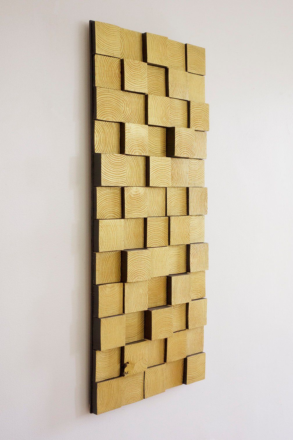 Gold Wall Art Modern Home Decor Mcm Wall Art Sculptural Wood Wall Art Modern Wall Decor Wood Wall Art Rectangle Gold Wall Art Modern Wall Decor Wall Art