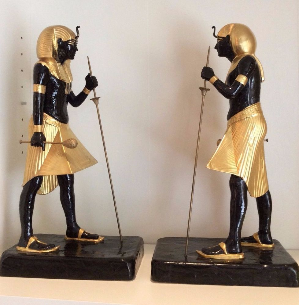 Boehm Pair Of King Tut Guardian Figures Limited Edition Fine