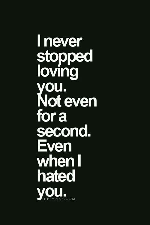 I Never Stopped Loving You Not Even For A Second Even When I Hated