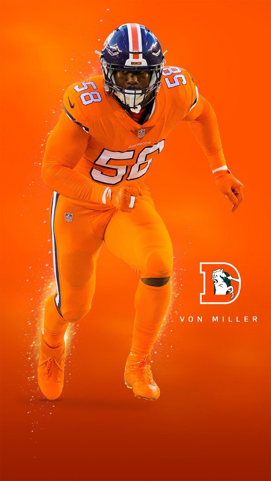 Von Miller Broncos Color Rush Nflredzone Denver Broncos Pictures Denver Broncos Wallpaper Nfl Broncos