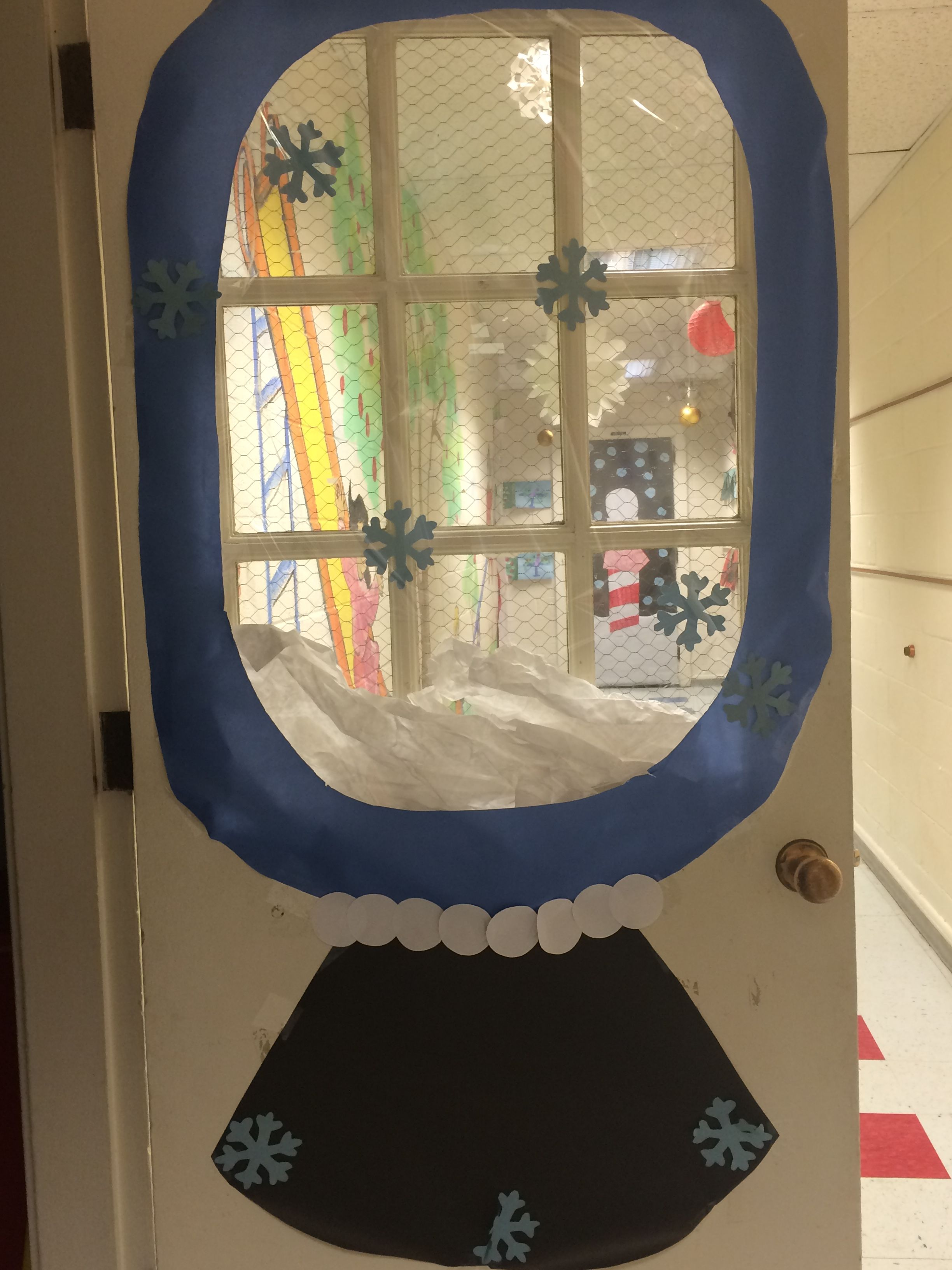 Classroom door window - Play Learn Hatboro Pa Snow Globe Cool Winter Wonderland Classroom