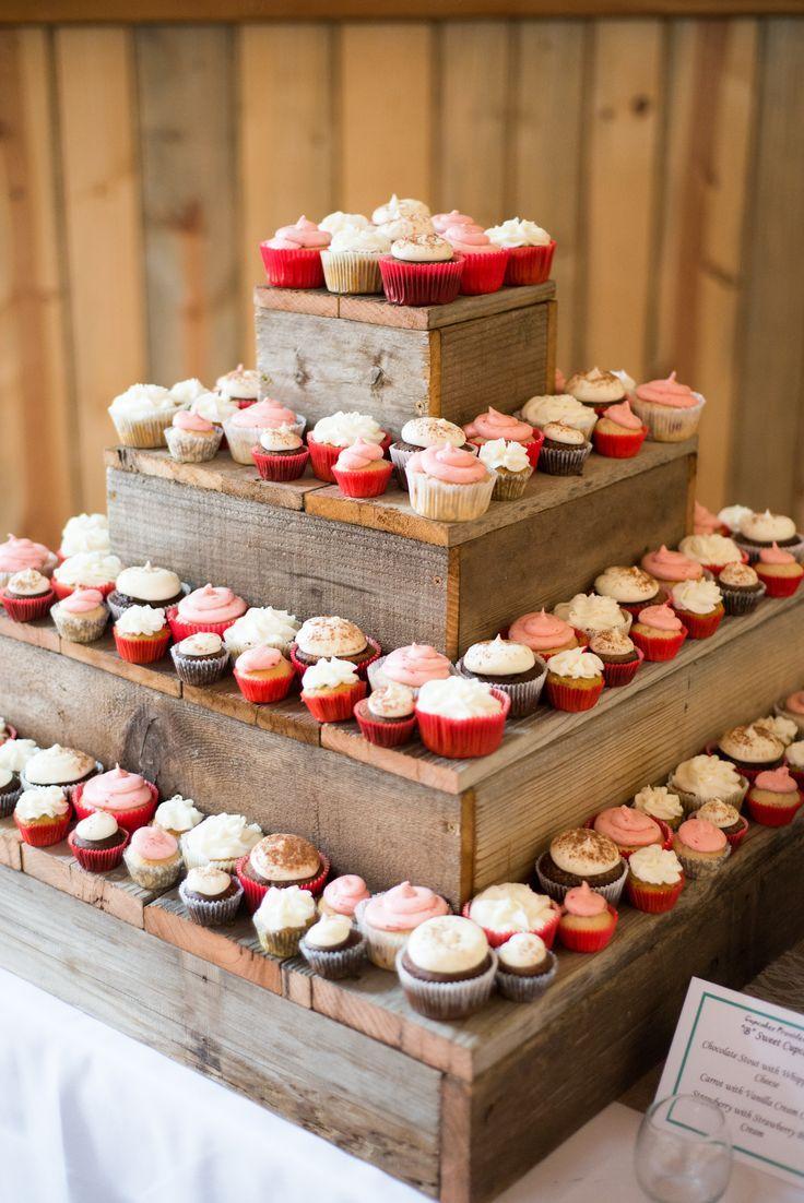 DIY Barn Wood Cupcake Stand Dessert Table | DIY Party Ideas ...
