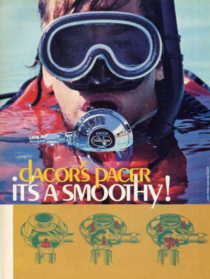Dacor Pacer Reg Ad Dive History Diving Underwater Diving Gear