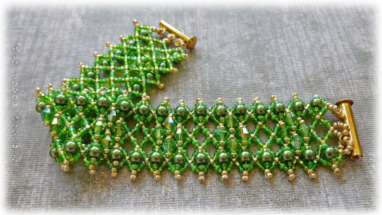 Beading pattern tutorial bracelet necklace tubular netted stitch.