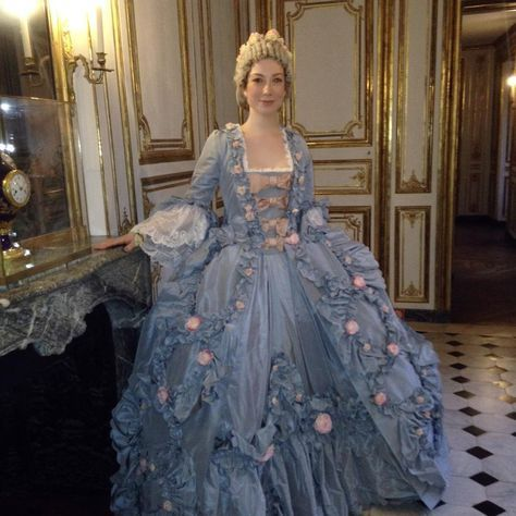 """Elizabeth Licata on Instagram: """"This is the robe a la Francaise I made for the #fetesgalantes ball at #versailles on Monday. This photo was taken in one of Madame de…"""""""