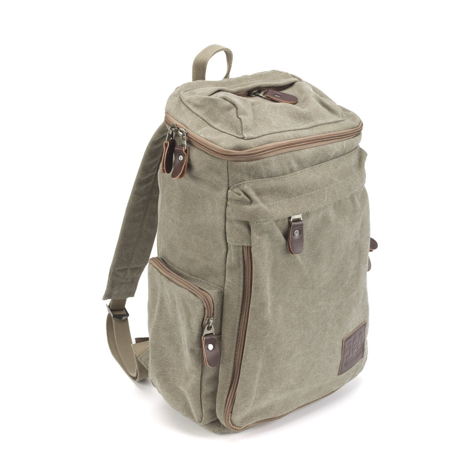 Hicollections Travel Vintage Canvas Messenger Backpack Sport Rucksack Camping School Satchel Hiking Military Laptop Bag