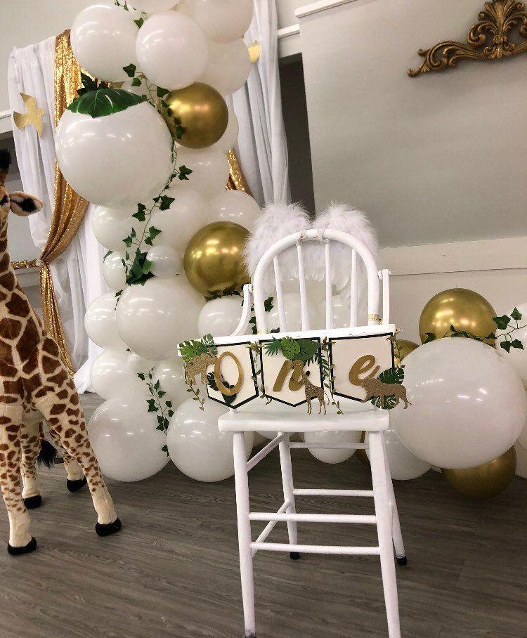 Jungle Safari High Chair Banner Safari 1st Birthday Safari High