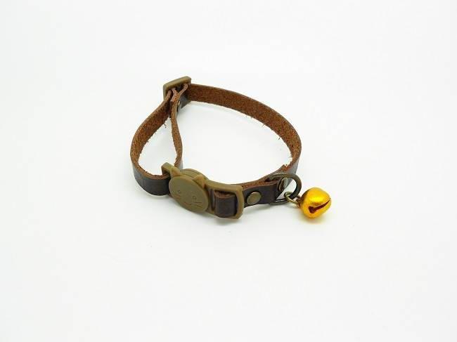 collier réglable pour chat en cuir, fermoir tête de chat divers coloris de la boutique bout2bijoux sur Etsy