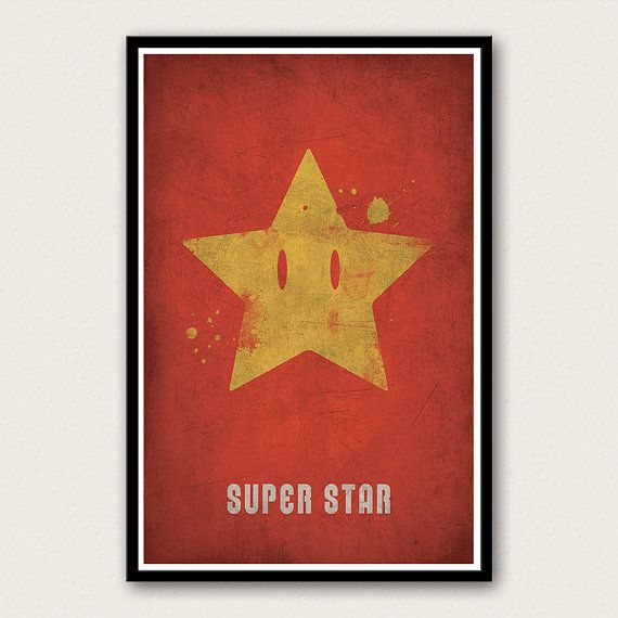 Super Mario Bros. Super Star - Video Game Poster on Etsy, $19.86 CAD