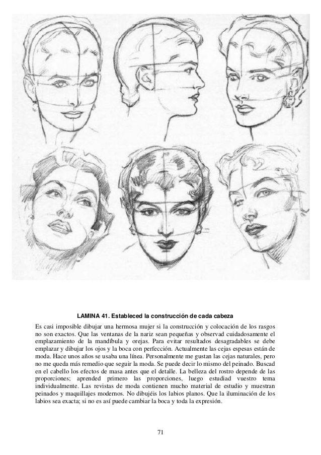 Andrew Loomis Dibujo De Cabeza Y Manos Espanol Referencia De Anatomia Andrew Loomis Libro De Dibujo