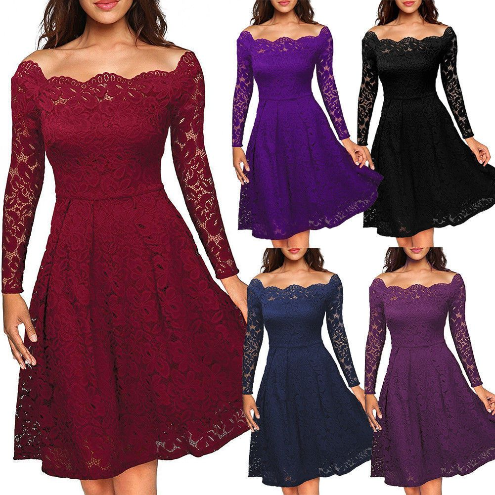 Jewel Tone Bridesmaid Dresses Free Shipping Bridesmaid With Images Lace Dress Vintage Long Sleeve Lace Dress Party Dress Long Sleeve