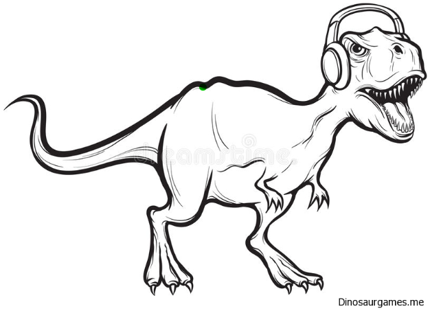 Dinosaurs Listen To Music Coloring Page   Dinosaur coloring ...