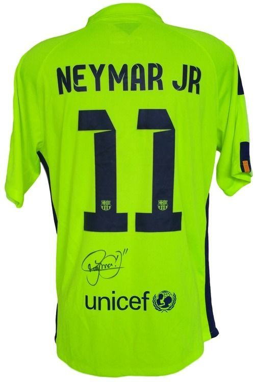 super popular 9034f d8935 Neymar Jr. Signed Nike Barcelona Alternate Soccer Jersey PSA ...