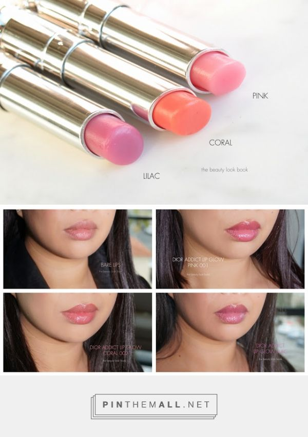 46153f27 Dior Addict Lip Glow Color Reviver Lip Balms in Pink, Coral and ...