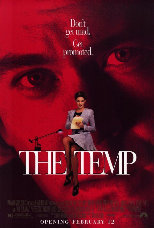 The Temp , starring Timothy Hutton, Lara Flynn Boyle, Dwight Schultz, Oliver Platt. A cookie company takeover has employees scrambling to make a case for continued employment. An executive's... #Drama #Thriller
