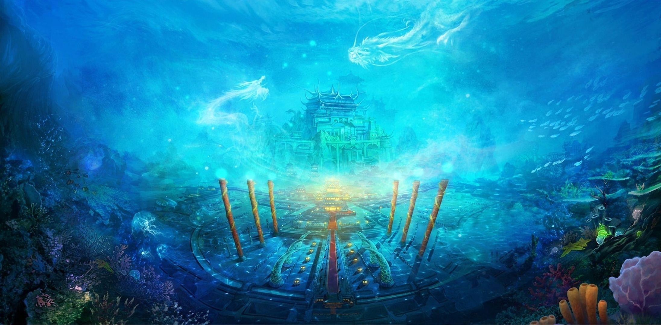 Images For Gt Underwater World Fantasy Fantasy Landscape Ocean Wallpaper Underwater City
