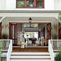 hamptons home with rear deck and bifold doors - Google Search