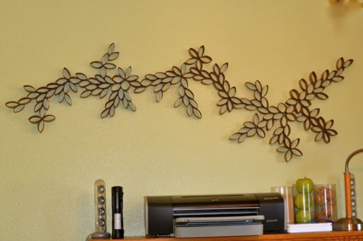 45 DIY Paper Roll Wall Art to Beautify Your Home | Pinterest | Diy ...
