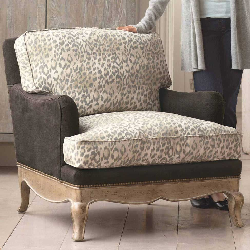 Leopard Print Eco Upholstered Chair