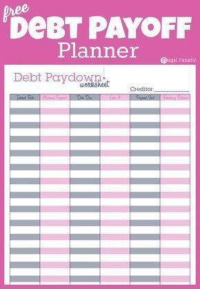 Do you want to be debt free? Use this simple debt payoff planner