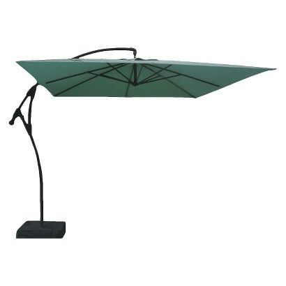 Threshold Square Offset Patio Umbrella And Base 9